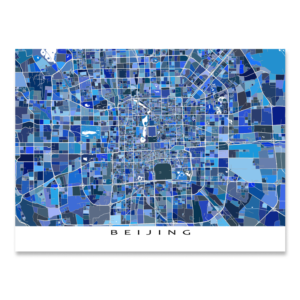 Beijing Map Print, China