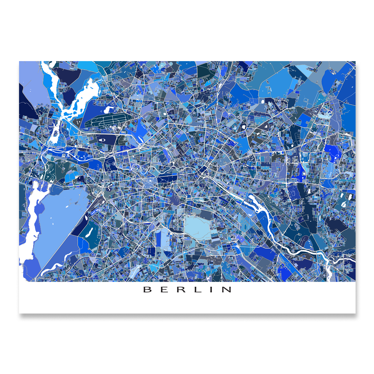 Map Of Germany To Print.Berlin Map Print Germany