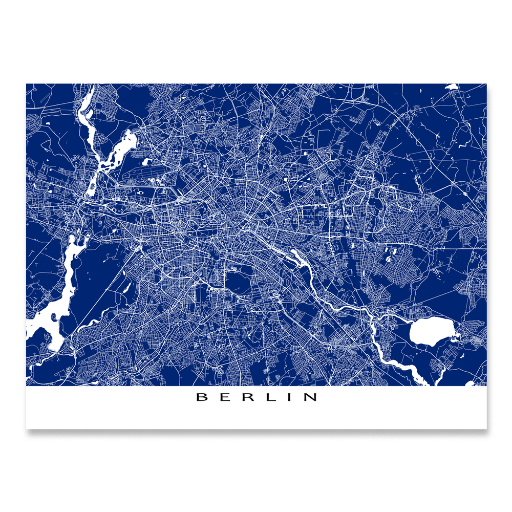 Map Of Germany To Print.Berlin Map Print Germany Colors