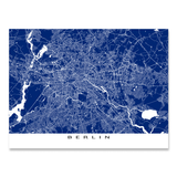 Berlin Map Print, Germany, Colors