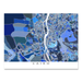 Cairo, Eygpt map art print in blue shapes designed by Maps As Art.