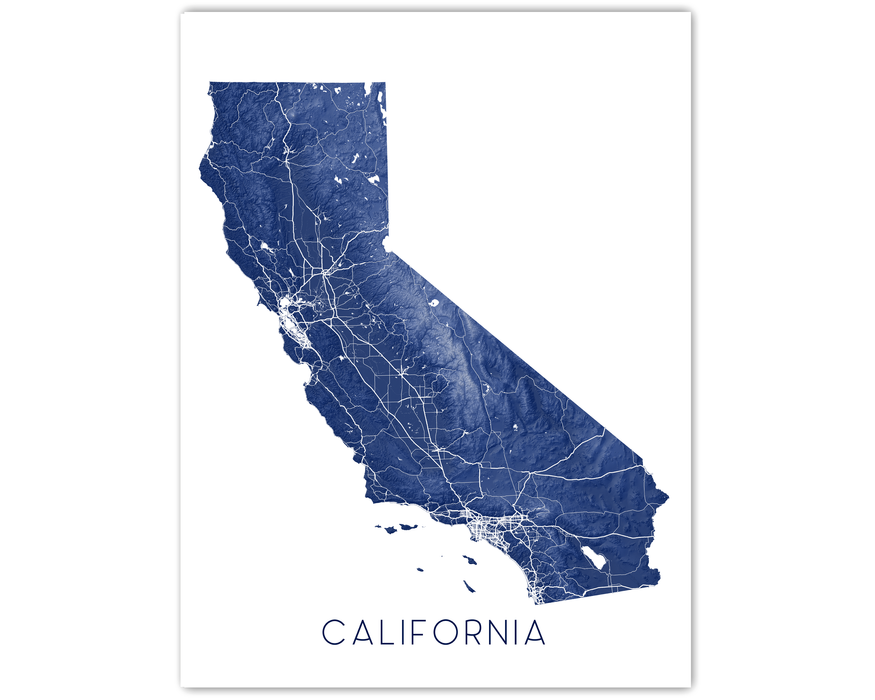California map print by Maps As Art.