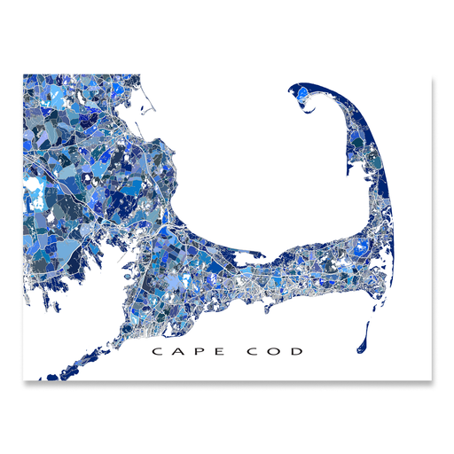 Cape Cod Map Print, Massachusetts, USA