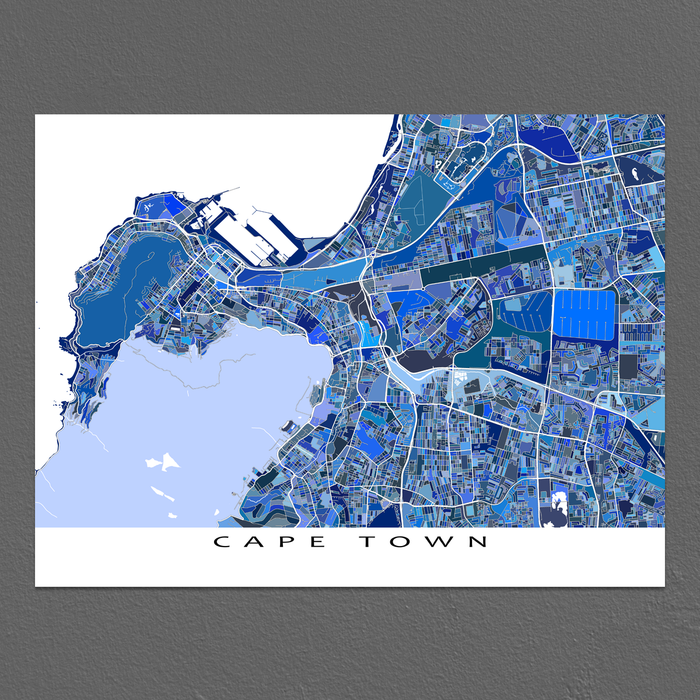 Cape Town Map Print, South Africa