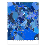 Chapel Hill Map Print, North Carolina, USA