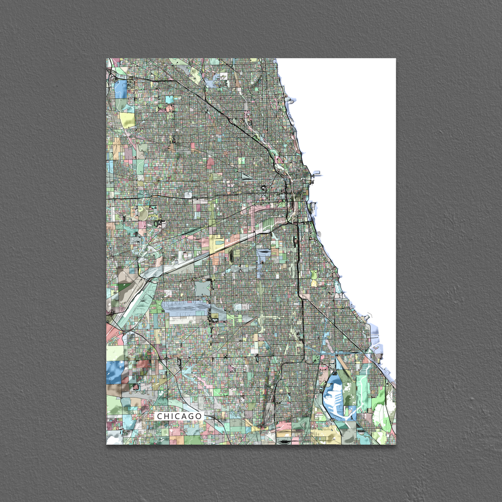 Houston Chicago Map%0A Chicago Map Print Chicago Map Print Illinois Colorful Maps As Art Chicago  Map Print Illinois MapsAsArt