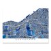 Cleveland, Ohio map art print in blue shapes designed by Maps As Art.