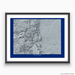 Colorado state map with natural landscape in greyscale and a navy blue background designed by Maps As Art.