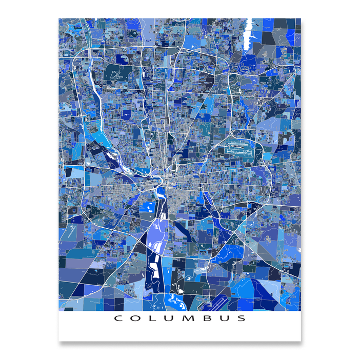 Columbus Map Print, Ohio, USA — Maps As Art
