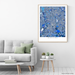 Dallas, Texas map art print in blue shapes designed by Maps As Art.