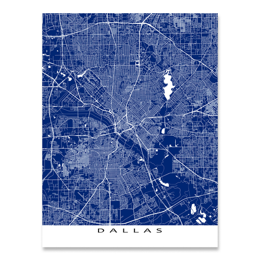 Dallas Map Print, Texas, Colors