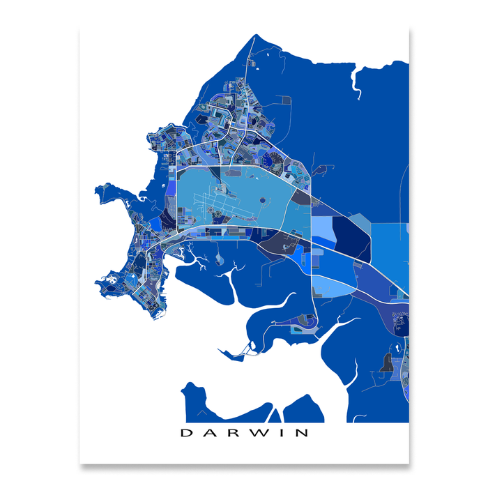 Darwin Map Of Australia.Darwin Map Print Australia Maps As Art