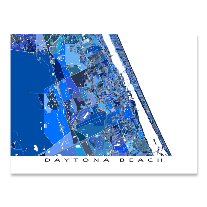 Daytona Beach Map Print, Florida, USA