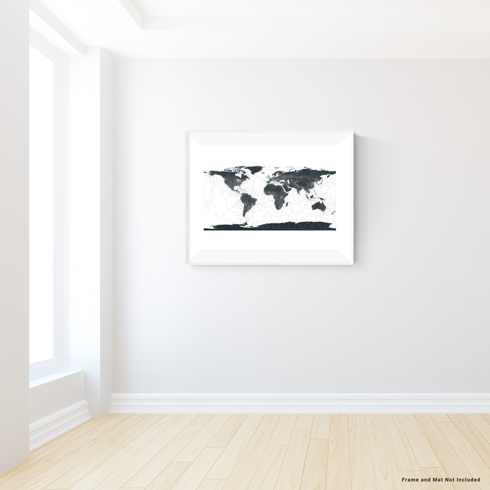 World Map Print, Geometric