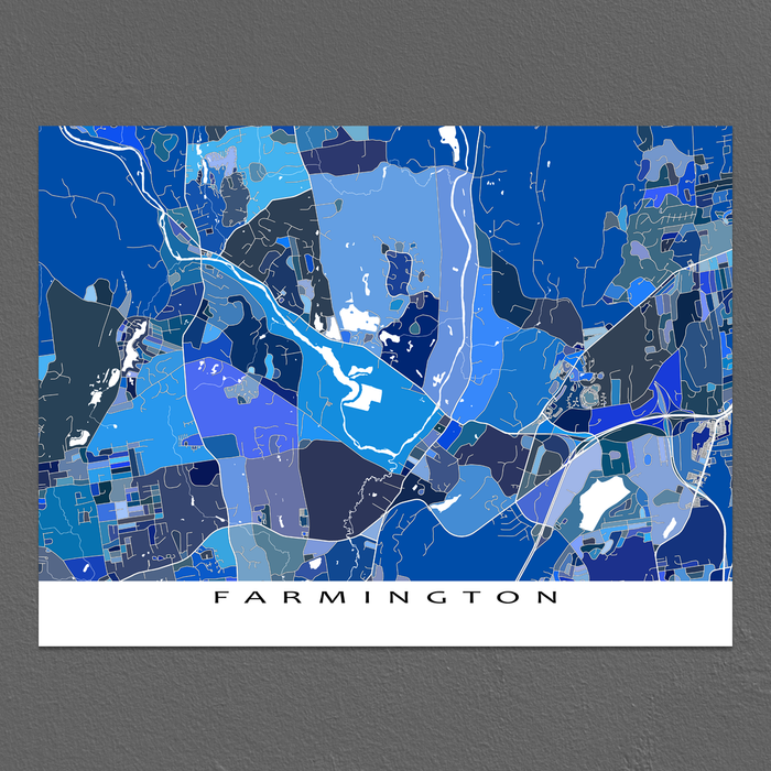 Farmington Map Print, Connecticut, USA