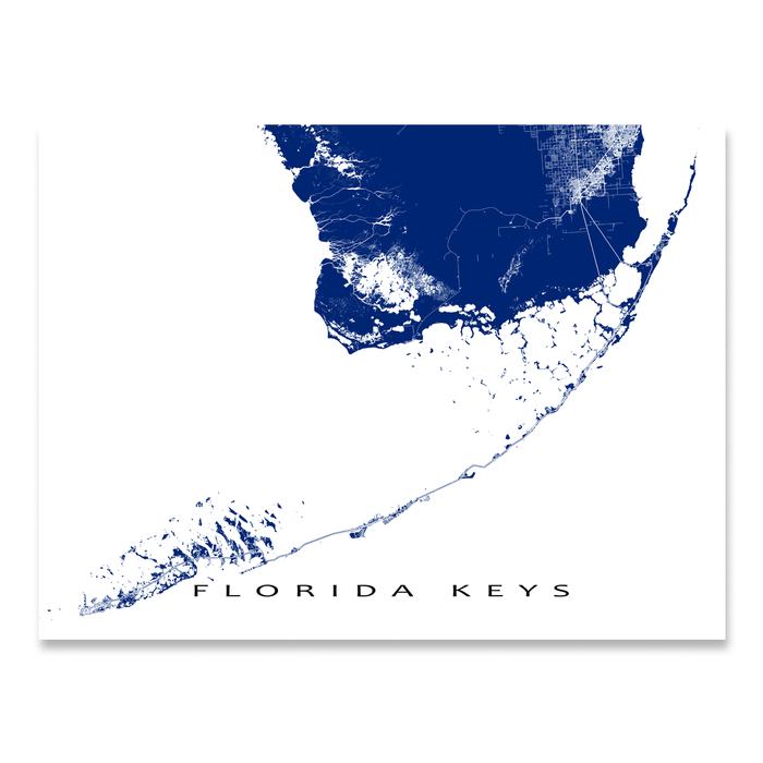 Map Of Florida Keys.Florida Keys Map Print Usa Colours Maps As Art