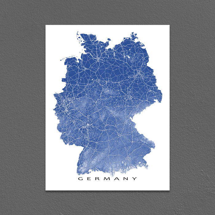 Germany Map Print, Colors