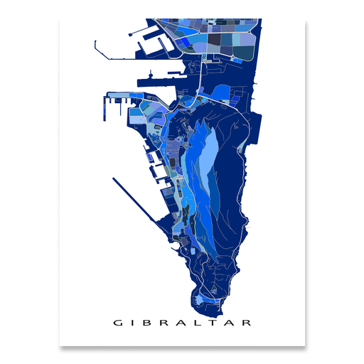 Gibraltar Map Print, UK