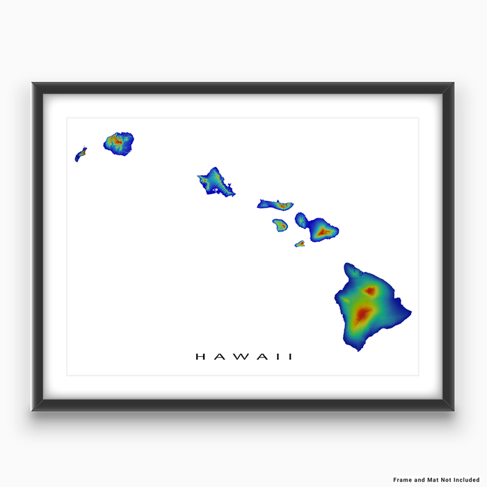 graphic about Printable Map of Hawaii referred to as Hawaii Map Print, Hawaiian Islands, United states of america, Rainbow