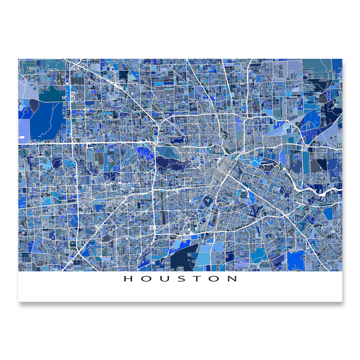 Houston Map Print, Texas, USA