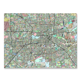 Houston Map Print, Texas, Colorful
