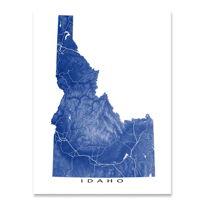 Idaho Map Print, USA State, ID
