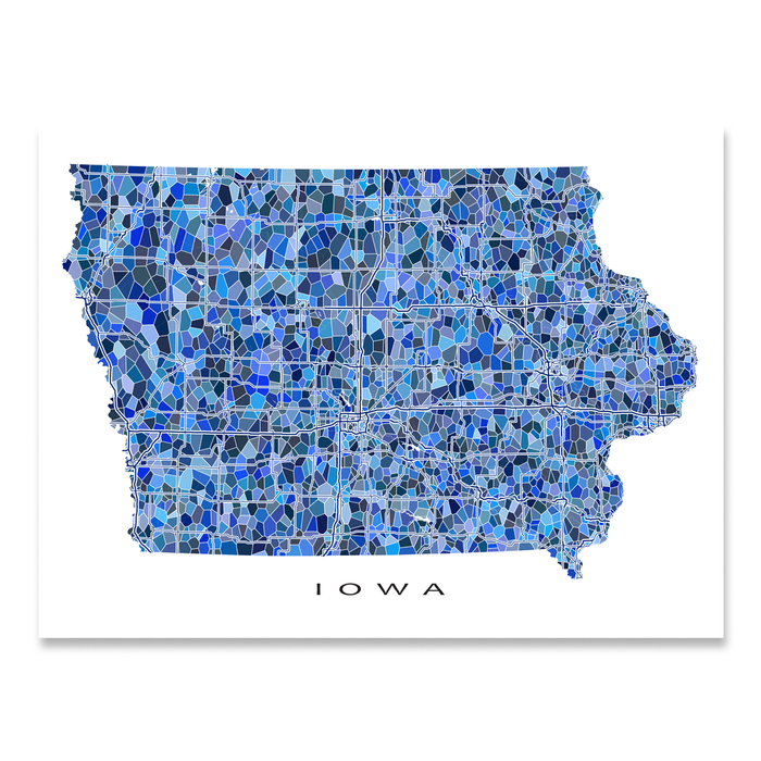 Iowa Map Print Ia State Maps As Art