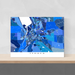 Ithaca, New York map art print in blue shapes designed by Maps As Art.