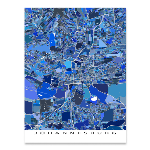 Johannesburg Map Print, South Africa