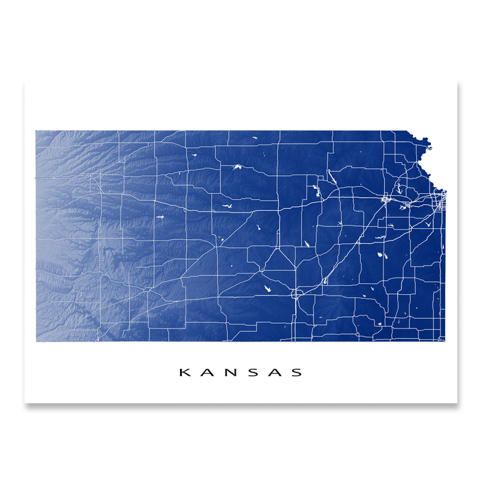 Kansas Map Print, KS State