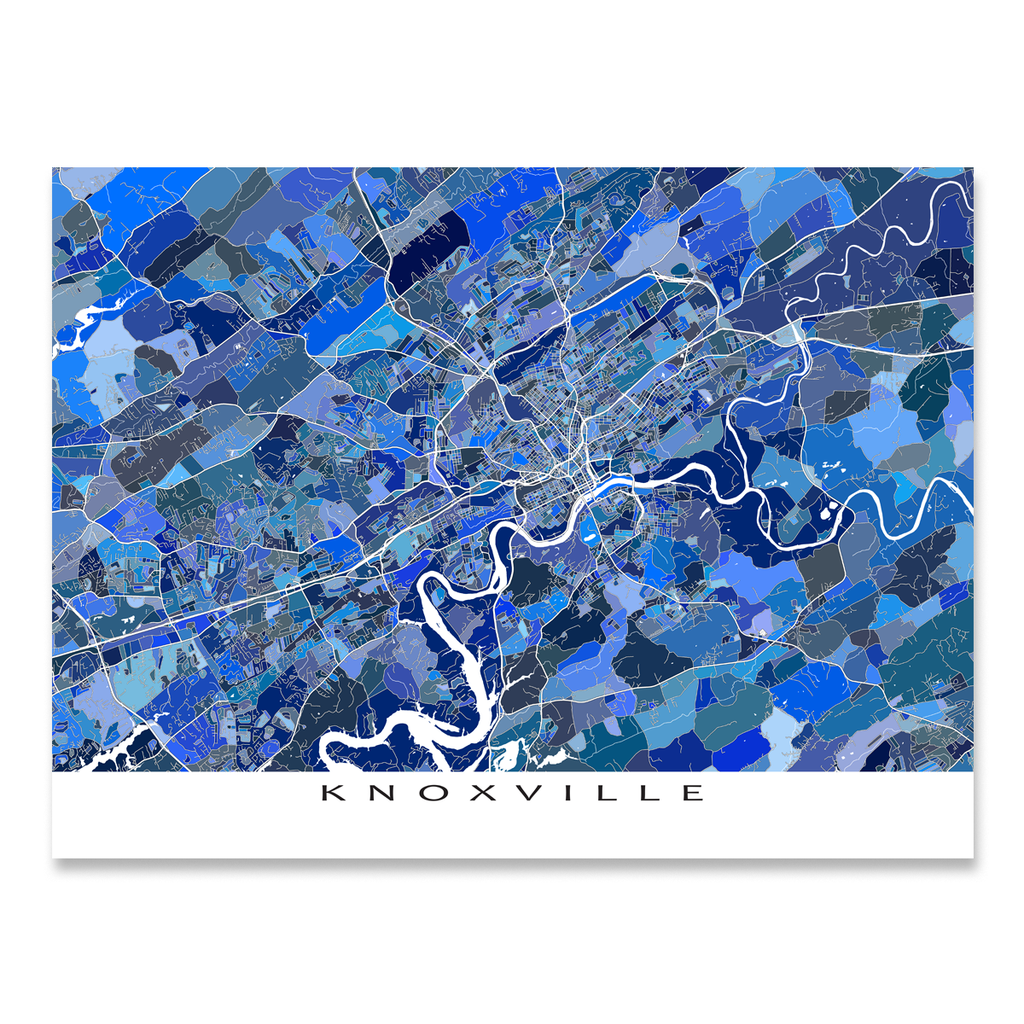 Knoxville Map Print, Tennessee, USA