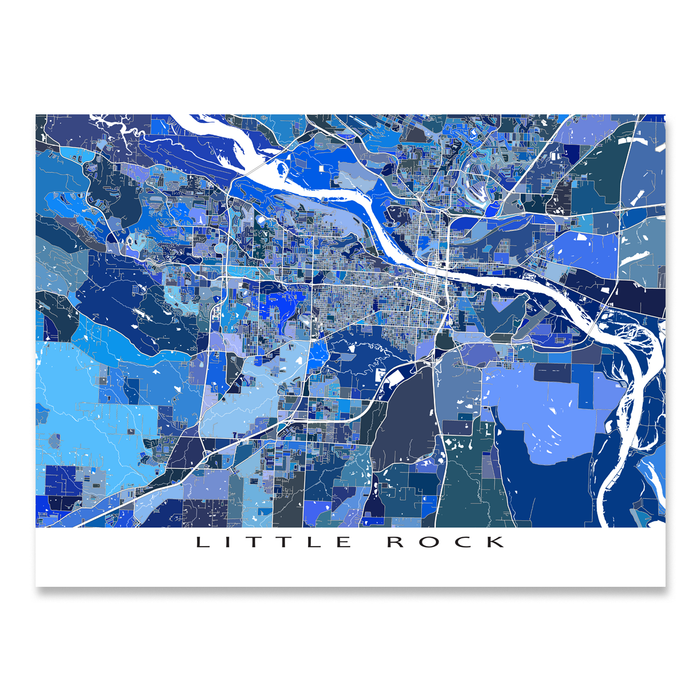 Little Rock Map Print, Arkansas, USA