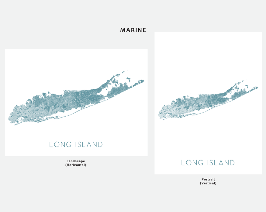 Long Island, New York map print in Marine by Maps As Art.