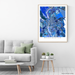 Manchester, New Hampshire map art print in blue shapes designed by Maps As Art.