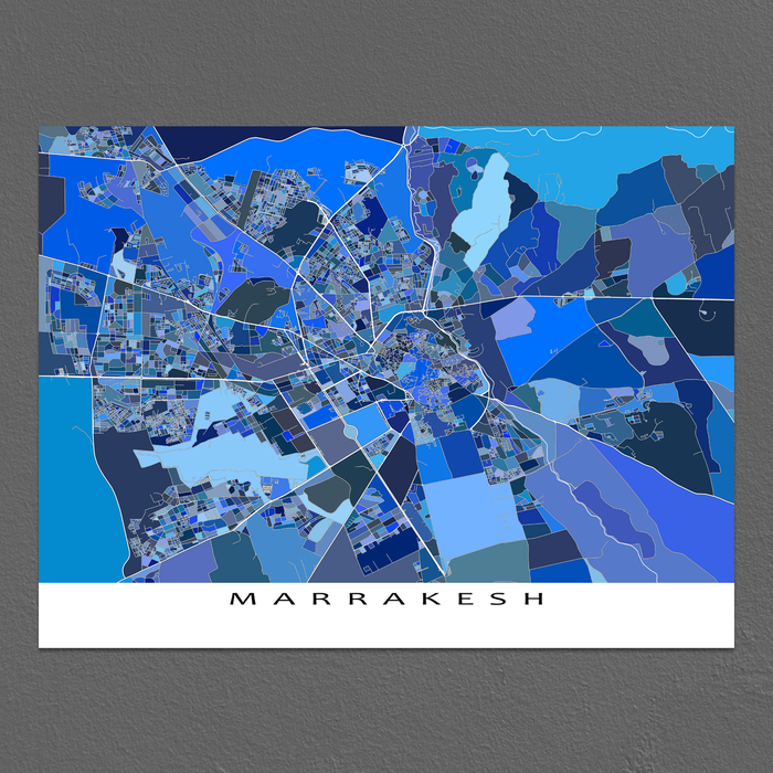 Marrakesh Map Print, Morocco