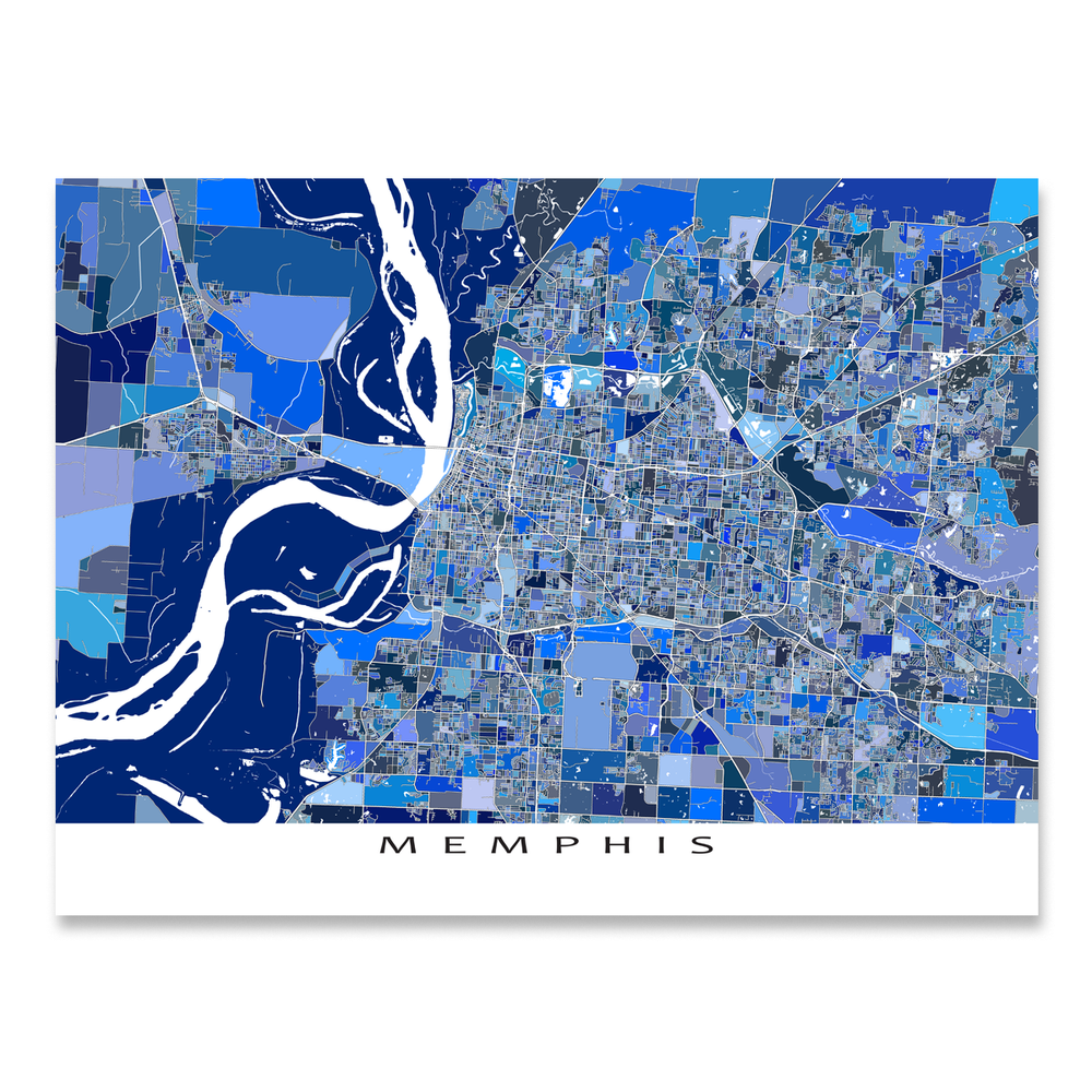 Memphis Map Print, Tennessee, USA