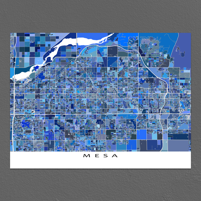 Mesa Map Print, Arizona, USA