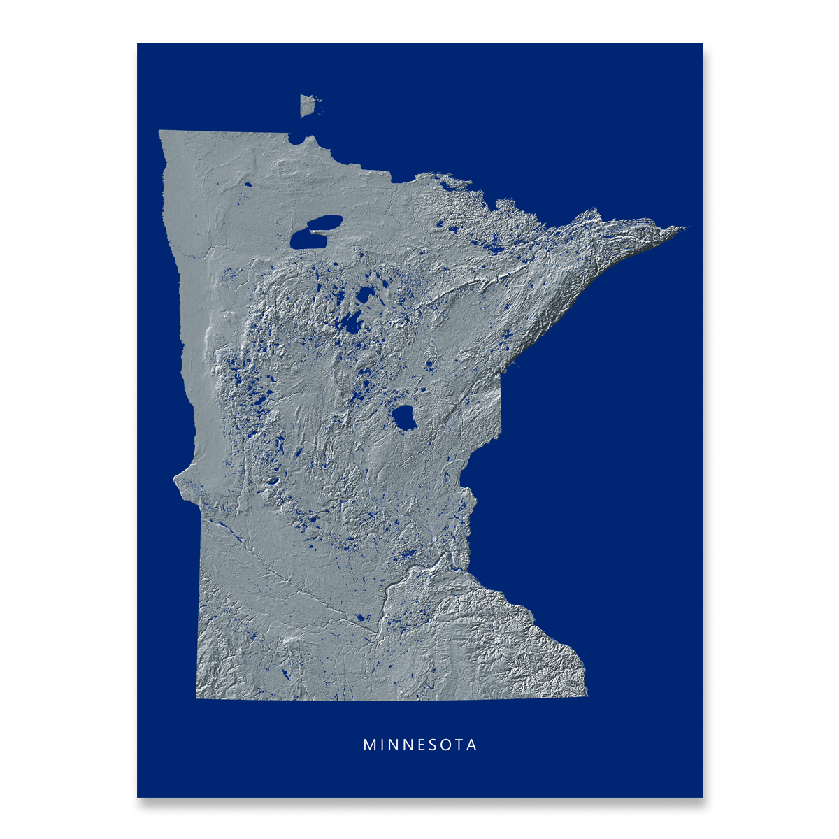 Minnesota Map Png.Minnesota Map Print Navy Landscape Maps As Art