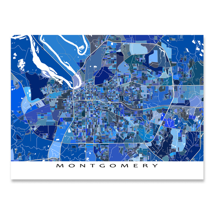 Montgomery Map Print, Alabama, USA
