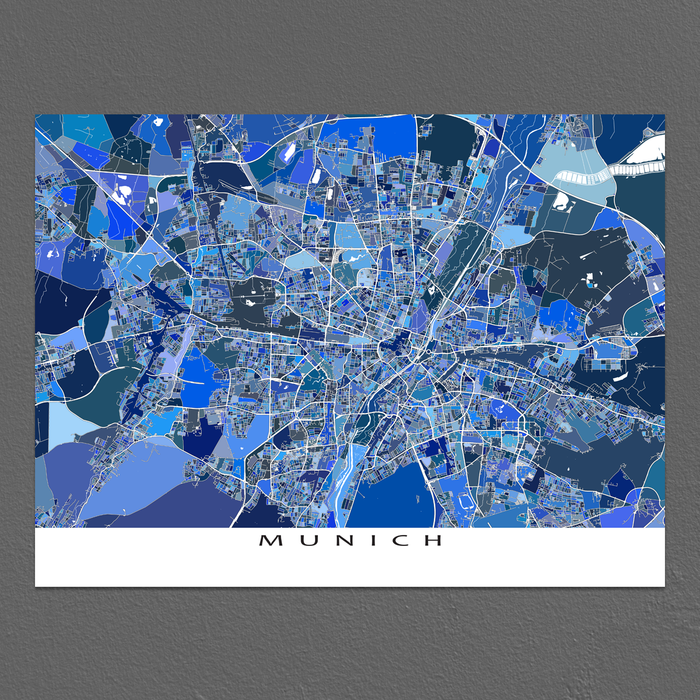 Munich Map Print, Germany