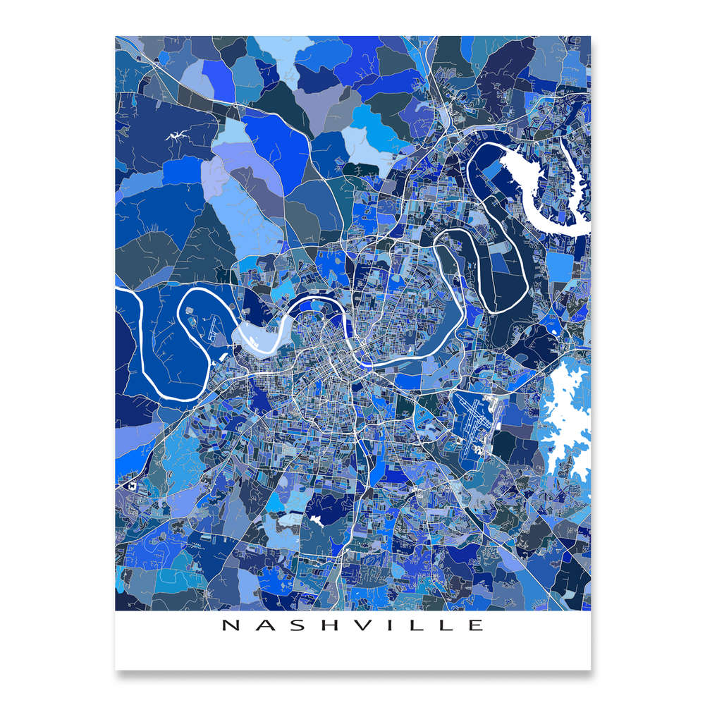 Nashville Map Print, Tennessee, USA