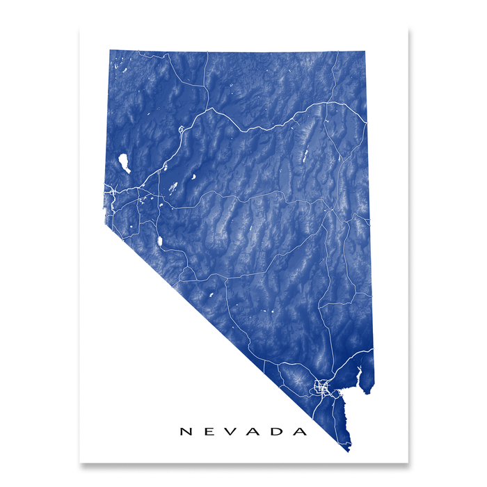 Nevada Map Print, USA State, NV