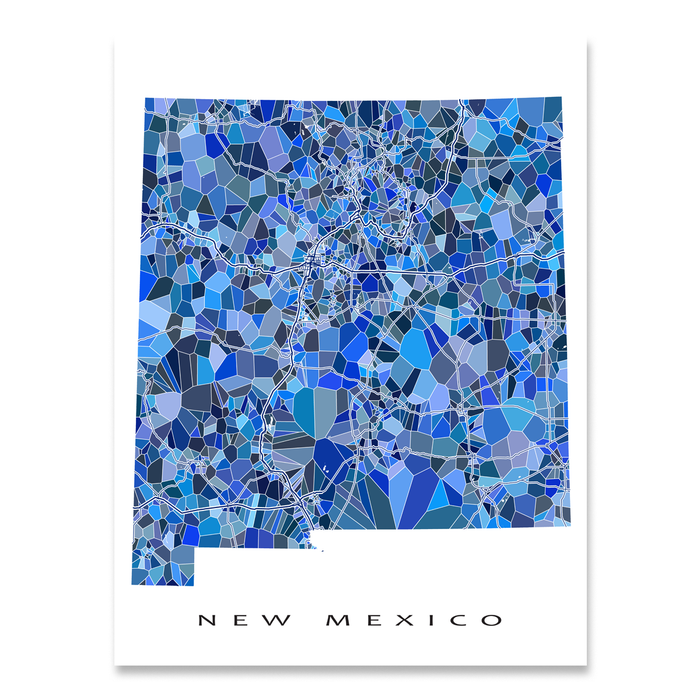 New Mexico Map Print, NM State