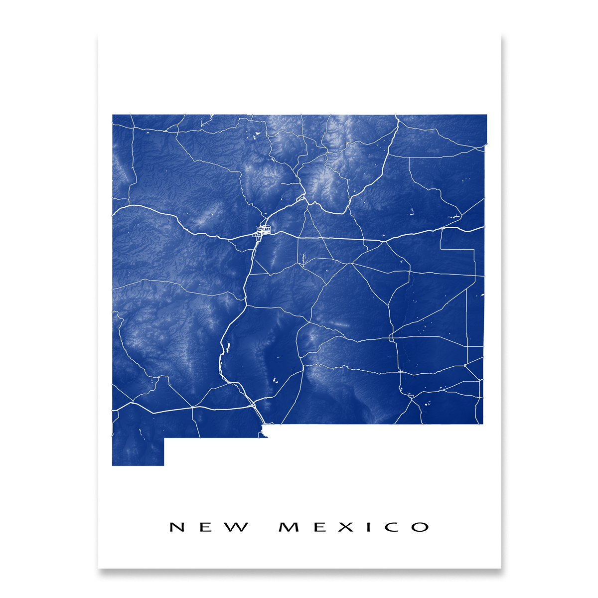 New Mexico Map Print, USA State, NM