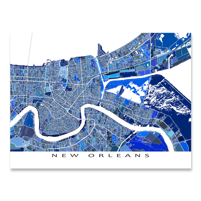 New Orleans Map Print, Louisiana, USA