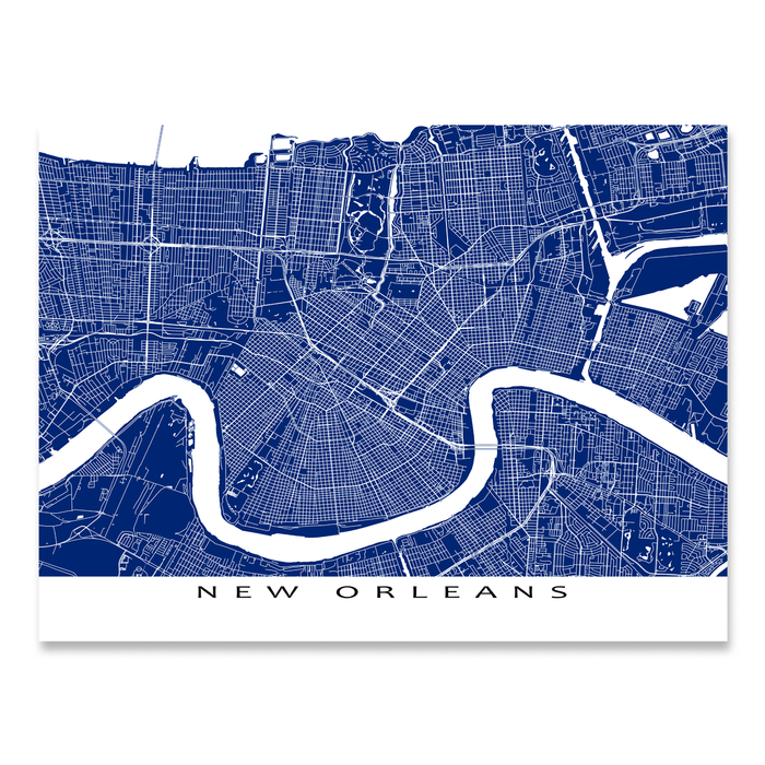 New Orleans Map Print, Louisiana, USA, Colors — Maps As Art on