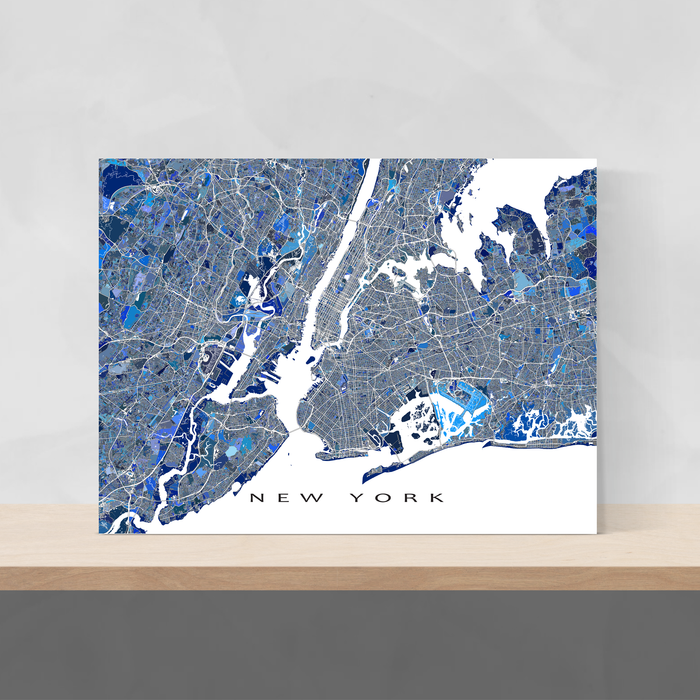 New York City map print by Maps As Art.