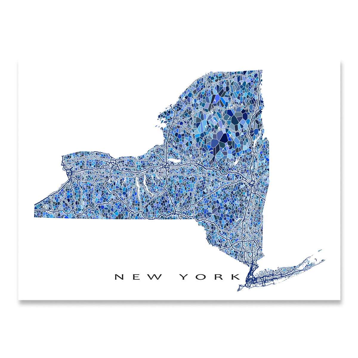 picture regarding Printable Maps of New York State referred to as Fresh York Map Print, NY Nation