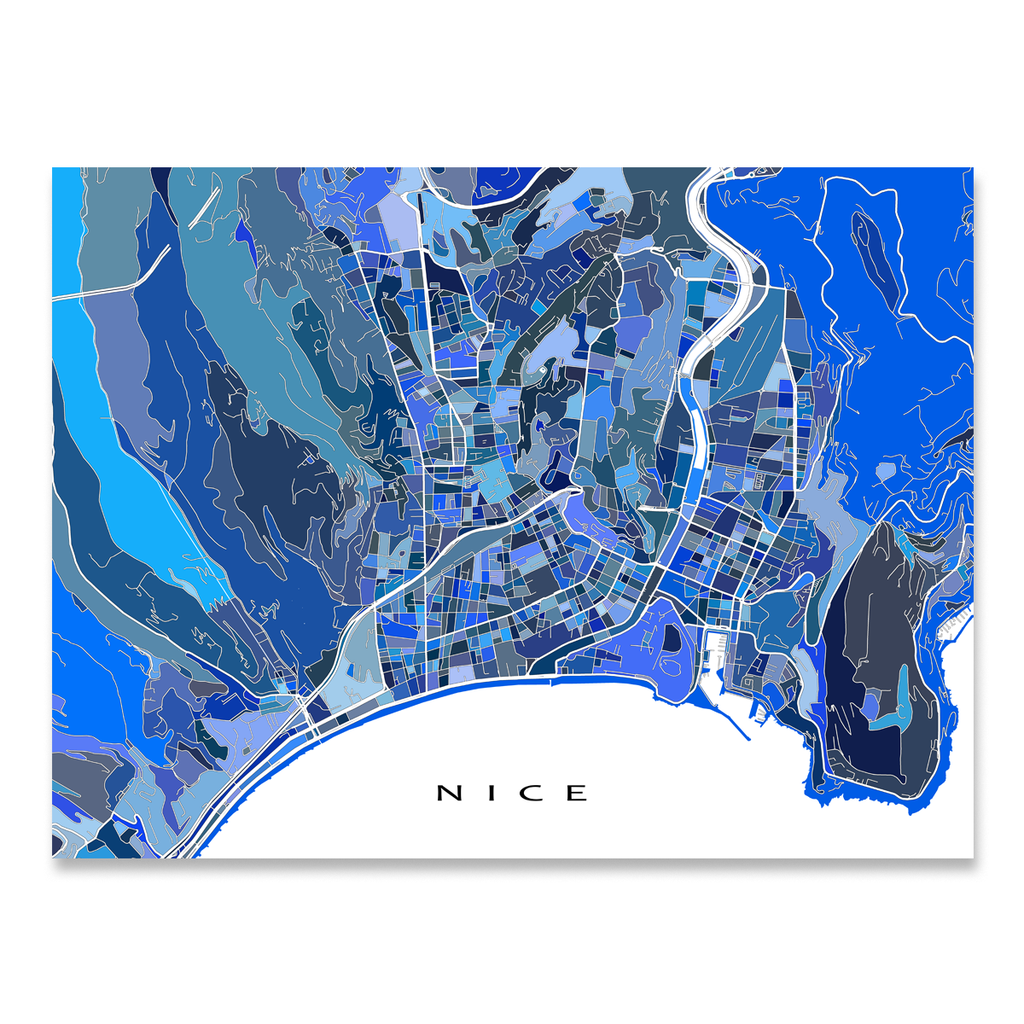 Nice Map Print France Maps As Art