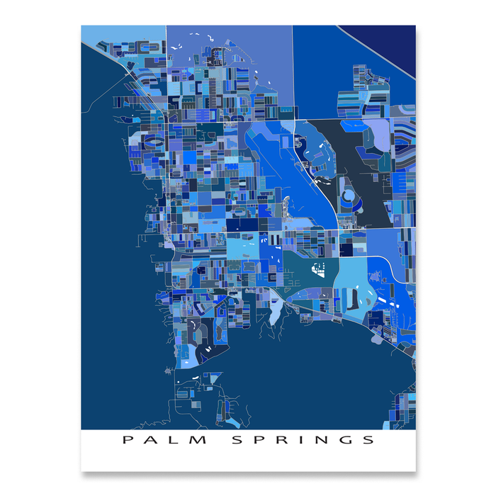 Map Of California Showing Palm Springs.Palm Springs Map Print California Usa